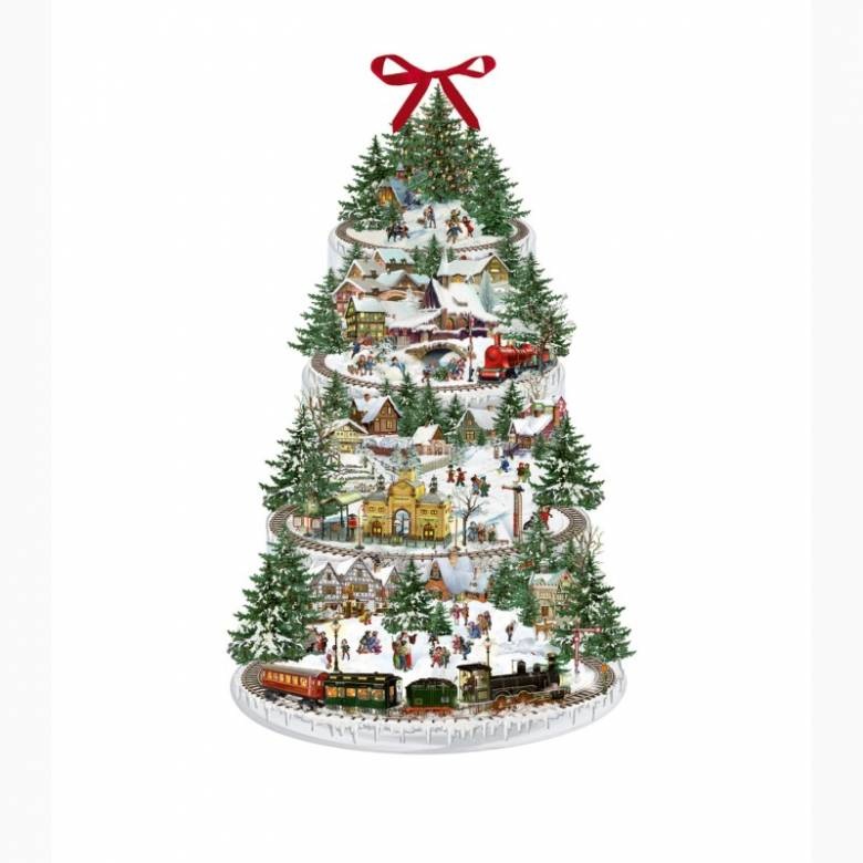 Christmas Railway Shaped Advent Calendar
