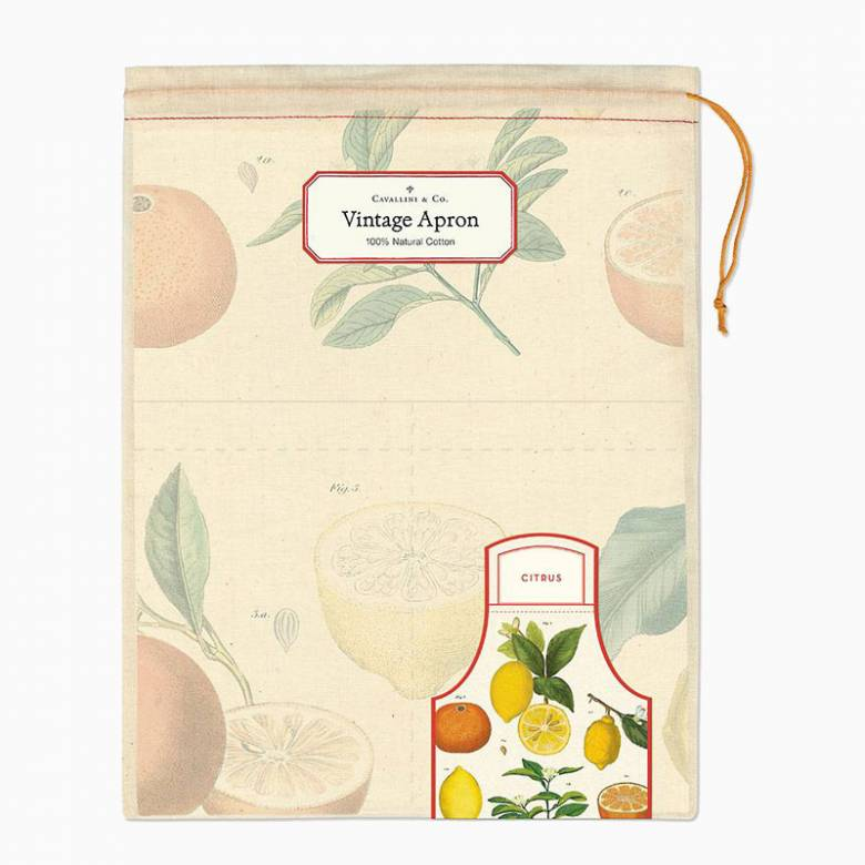 Citrus Cotton Apron with Gift Bag