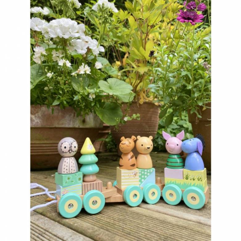 Classic Winnie The Pooh Wooden Puzzle Train By Orange Tree 1+