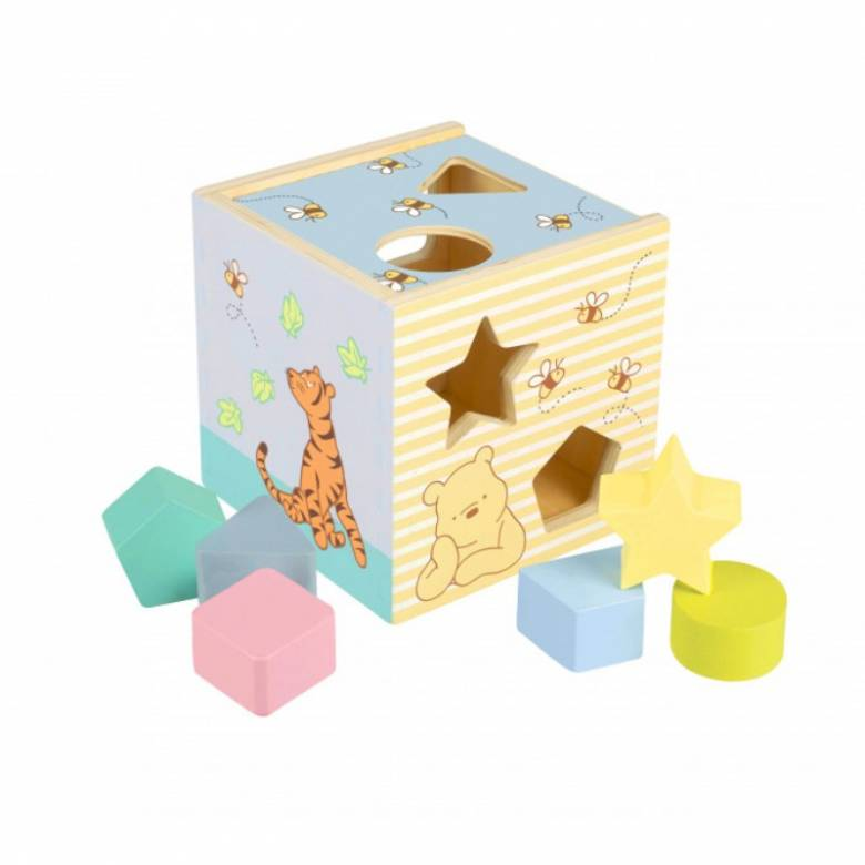 Classic Winnie The Pooh Wooden Shape Sorter By Orange Tree 18m+