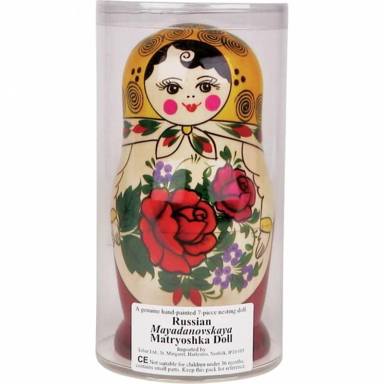 Classic Wooden Russian Doll Babushka 5 Dolls TB