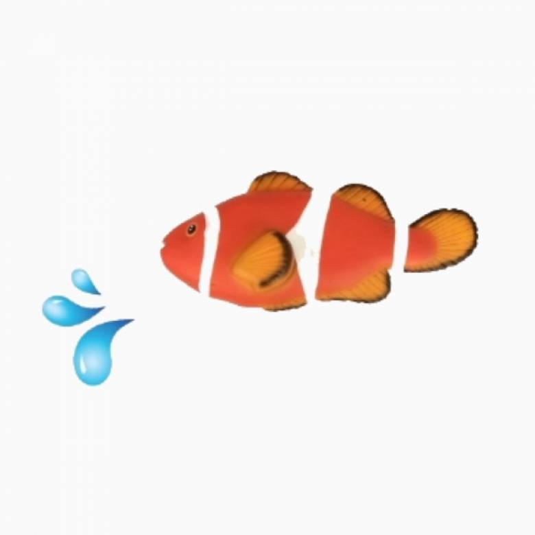 Clown Fish Water Squirter Toy 3+