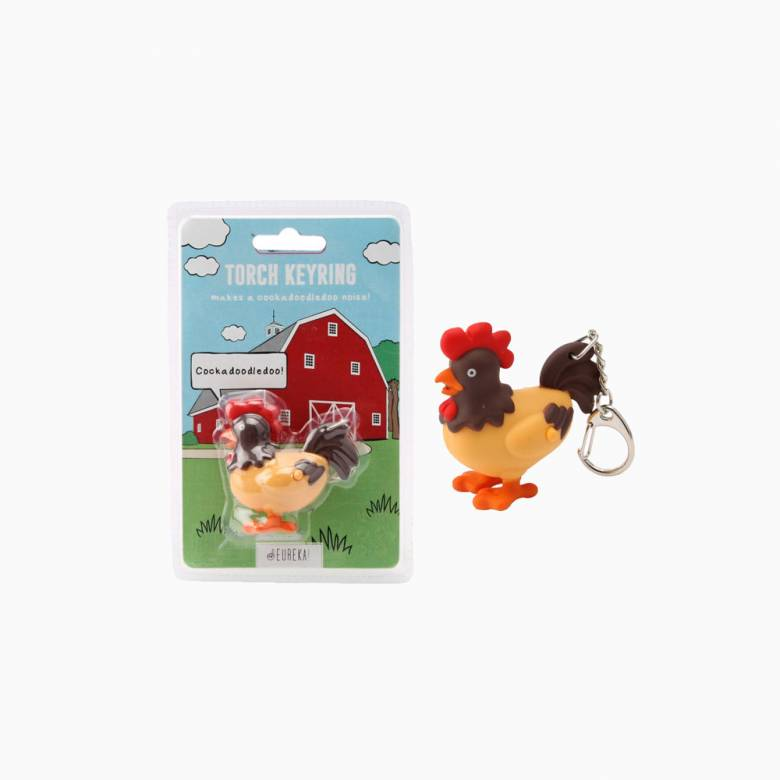 Cockerel Keyring With Torch And Sound