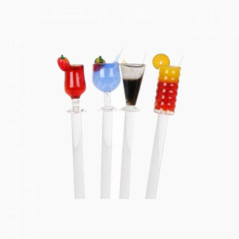 Summer Glass Cocktail Stirrers