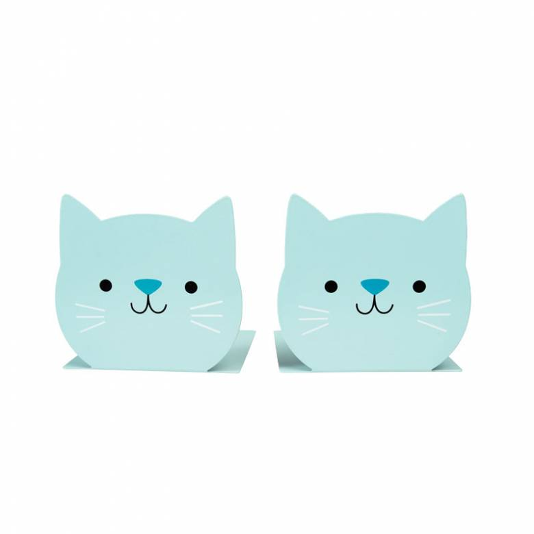 Colourful Cat Bookends