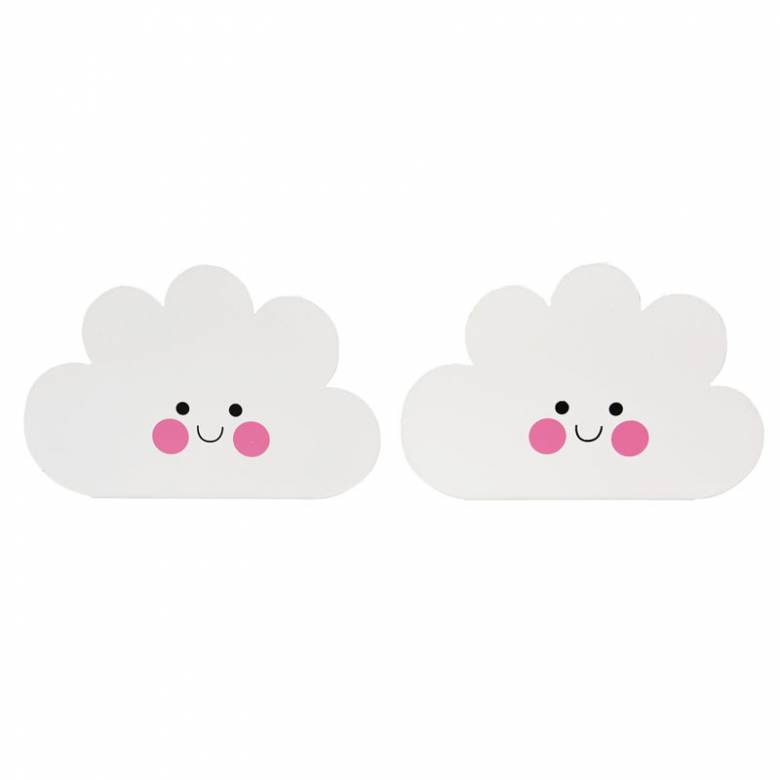 Z DISC Happy Cloud Bookends Metal Pair