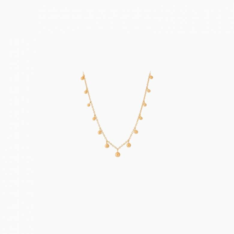 Comet Necklace In Gold By Pernille Corydon