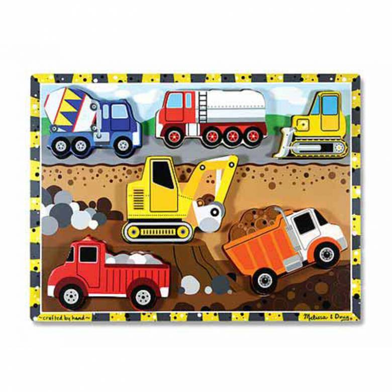 Construction Chunky Peg Puzzle By Melissa & Doug