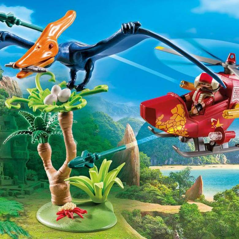 Adventure Copter With Pterodactyl Playmobil  Dinosaurs 9430