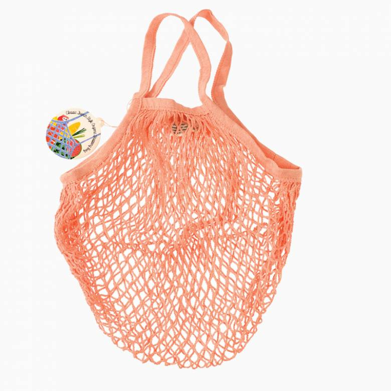 Coral String Shopping Bag