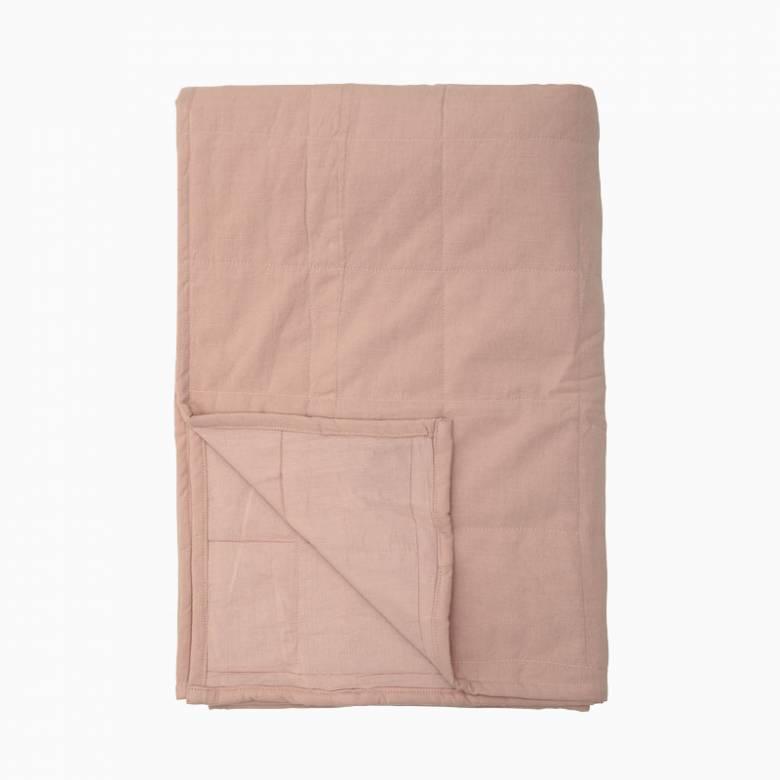 Cotton Bedspread In Dusky Rose 220x150cm