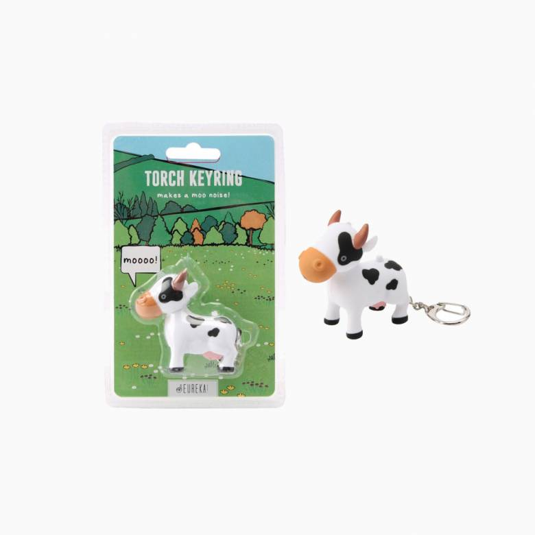 Cow Keyring With Torch And Sound