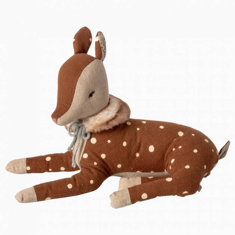 Cozy Bambi Deer With Scarf Soft Toy By Maileg 0+