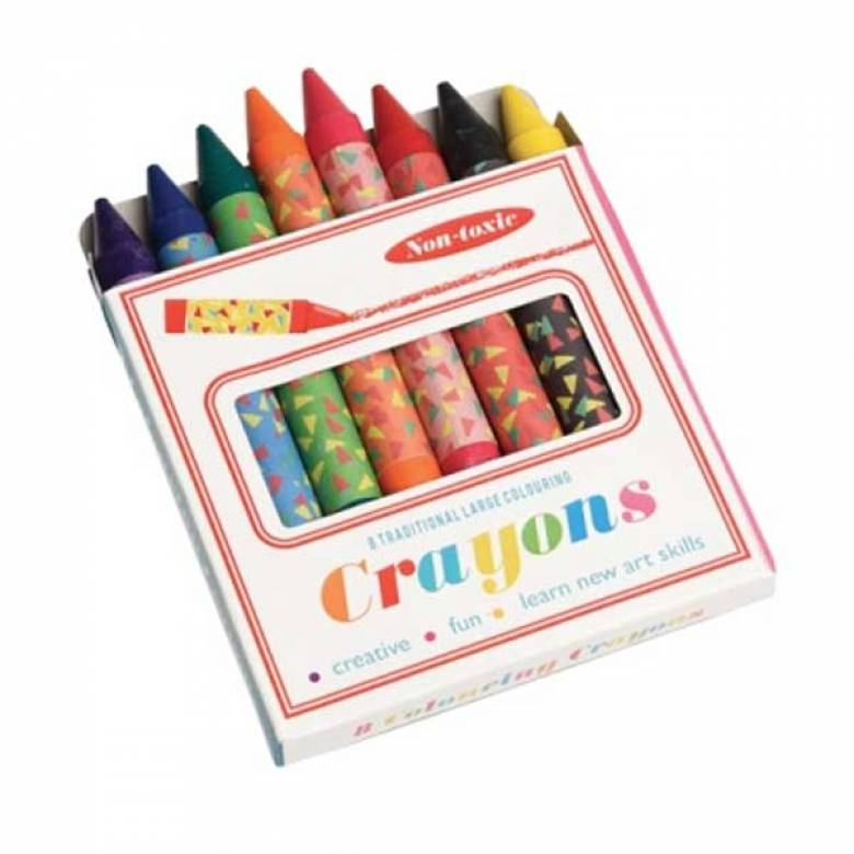 Box Of 8 Large Colouring Crayons