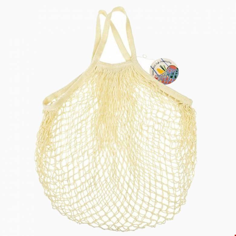 Cream String Shopping Bag