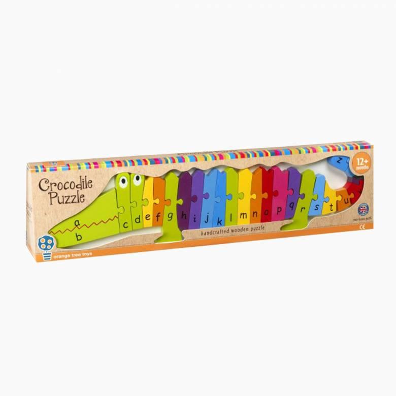 Wooden Crocodile Alphabet Puzzle 1+