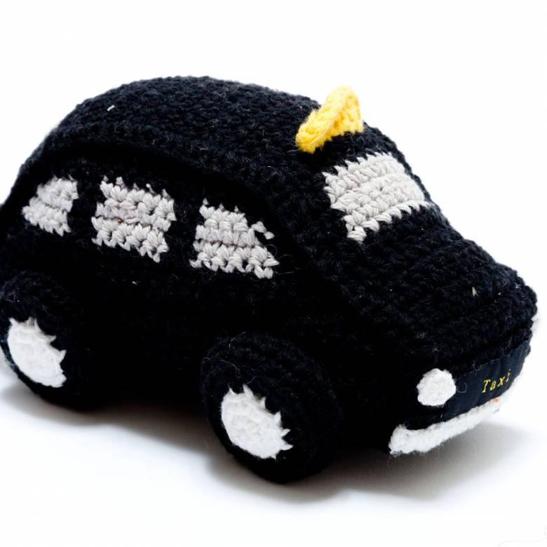 Crochet London Black Taxi Rattle 0+