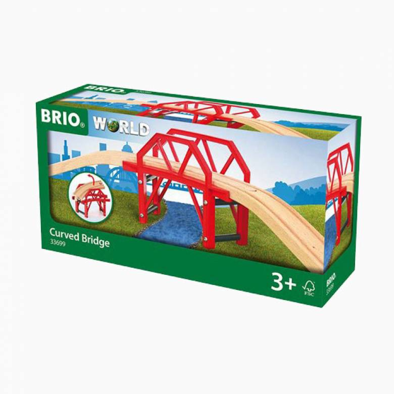 Curved Bridge BRIO Wooden Railway Age 3+