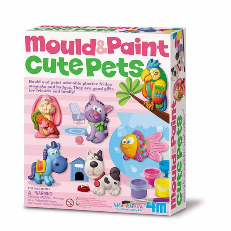 Mould & Paint - Cute Pets -  Art Kit 5+