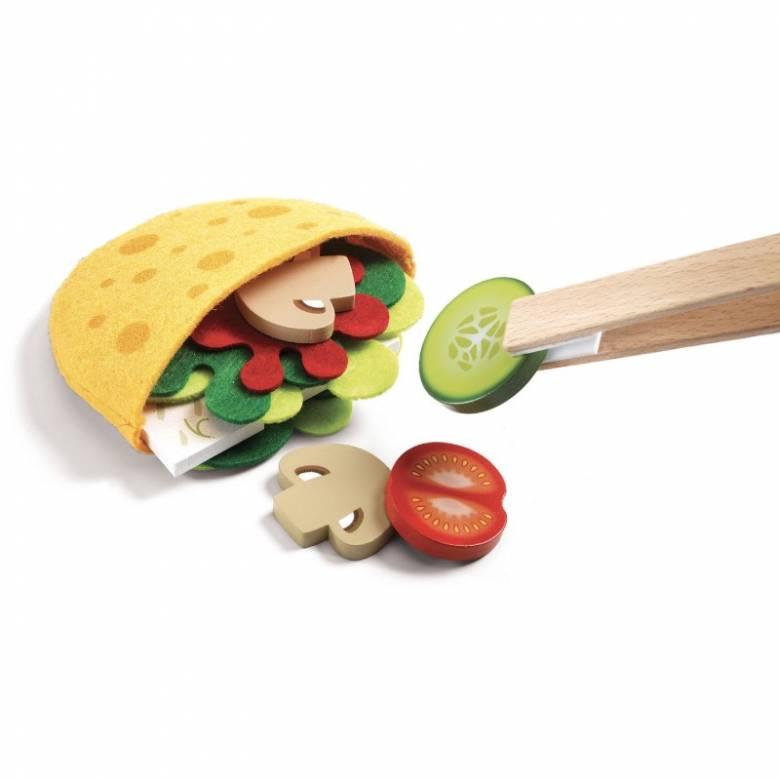 Cyrus & Lena Pitta Wooden Food Play Set 3+