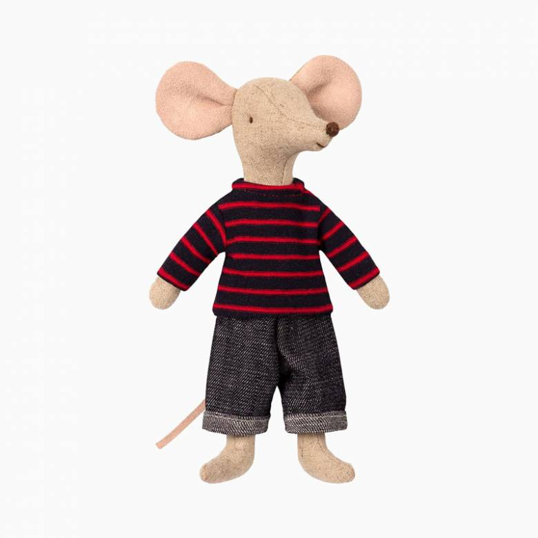 Mouse Dad In Clothes Soft Toy By Maileg