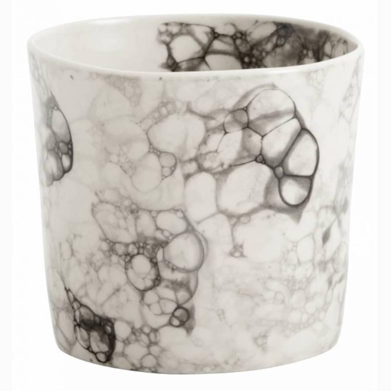 Dapple Marble Ceramic Cup / Beaker Black