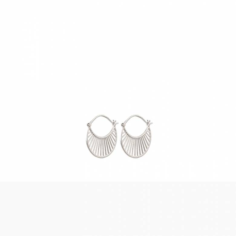 Daylight Hoop Earrings In Silver By Pernille Corydon
