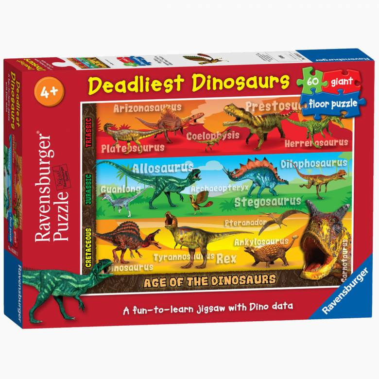 Deadliest Dinosaurs Giant Floor Puzzle 4+