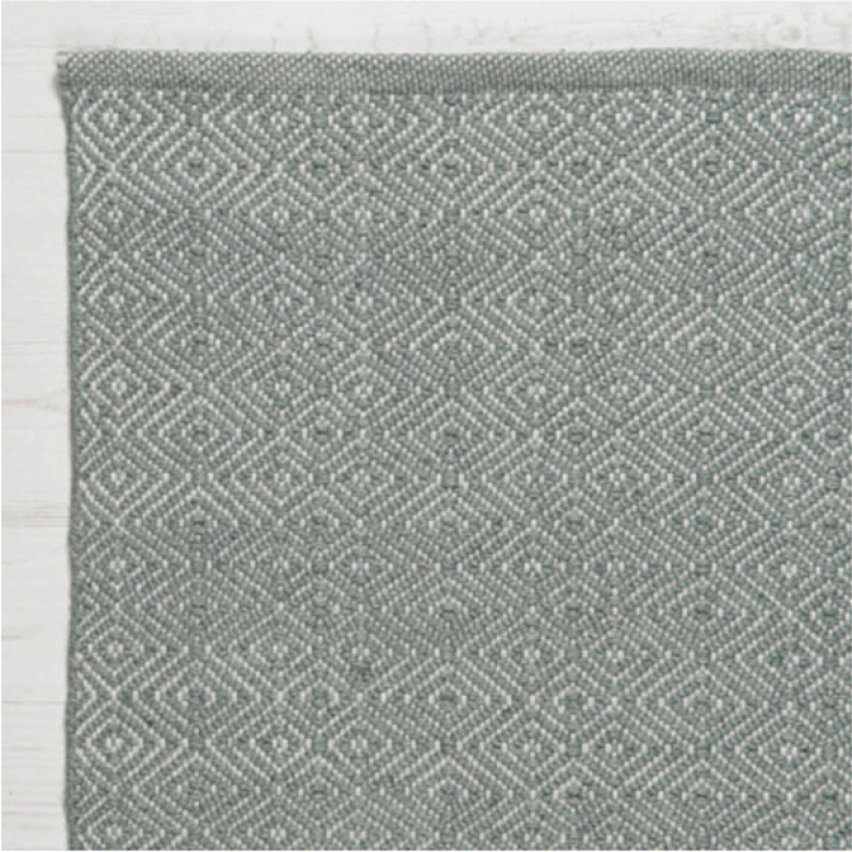 Diamond Grey 240x170cm Recycled Bottle Rug