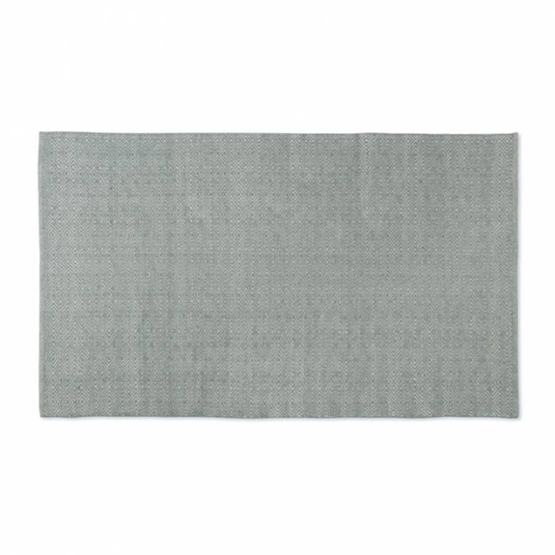 Diamond GREY 110x60cm Recycled Bottle Rug