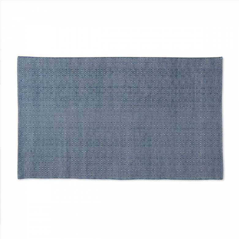 Diamond NAVY 150cmx90cm Recycled Bottle Rug