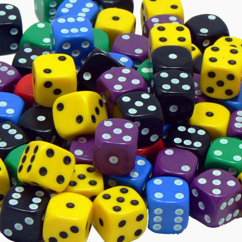 Single Dice D6 Six Sided