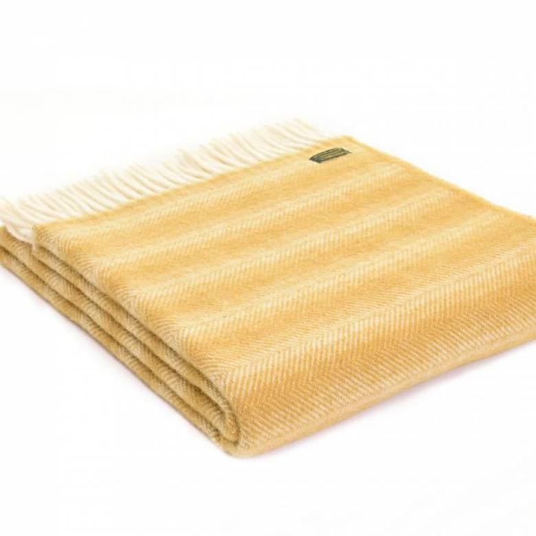 Dijon Mustard Chevron Throw 150x183cm