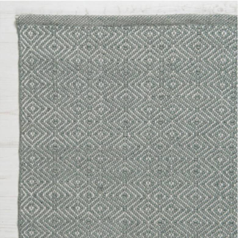 Diamond GREY 240x70cm Recycled Bottle Rug