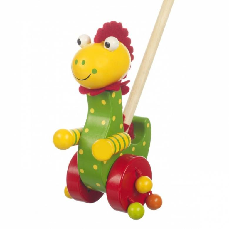 Dinosaur Push Along Toy By Orange Tree 12mth+