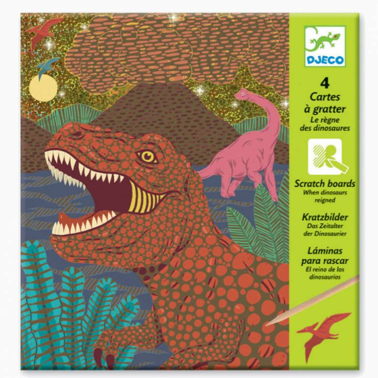 Dinosaur Scratchboard Pack Djeco 6-10yr