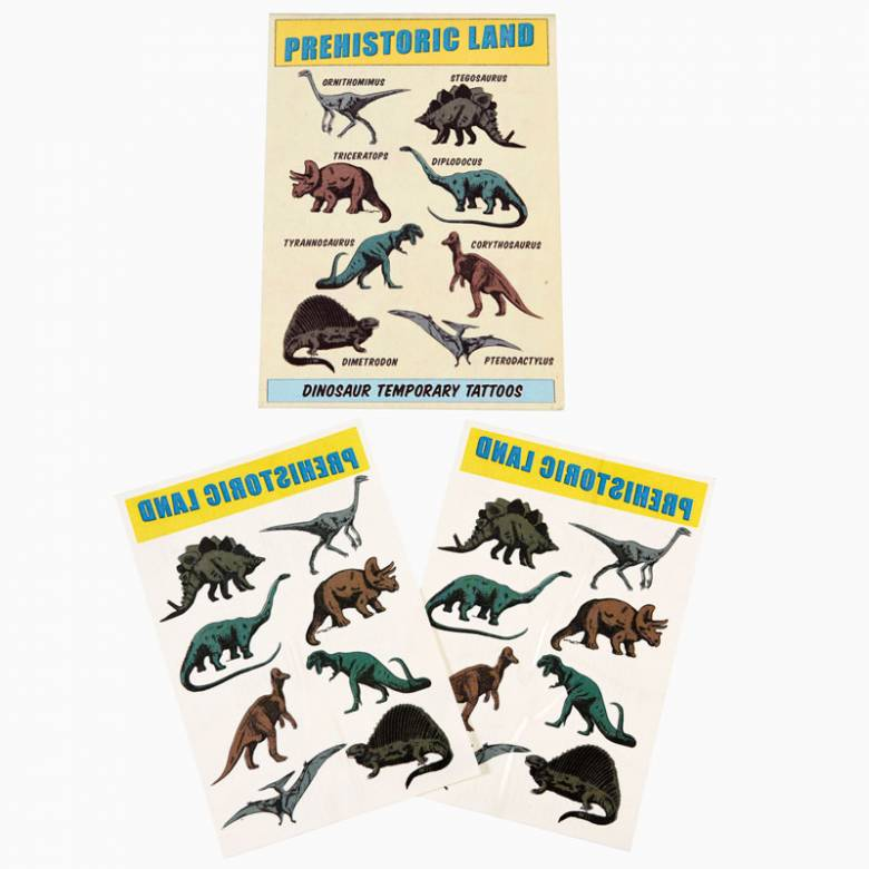 Prehistoric Dinosaur Temporary Tattoos