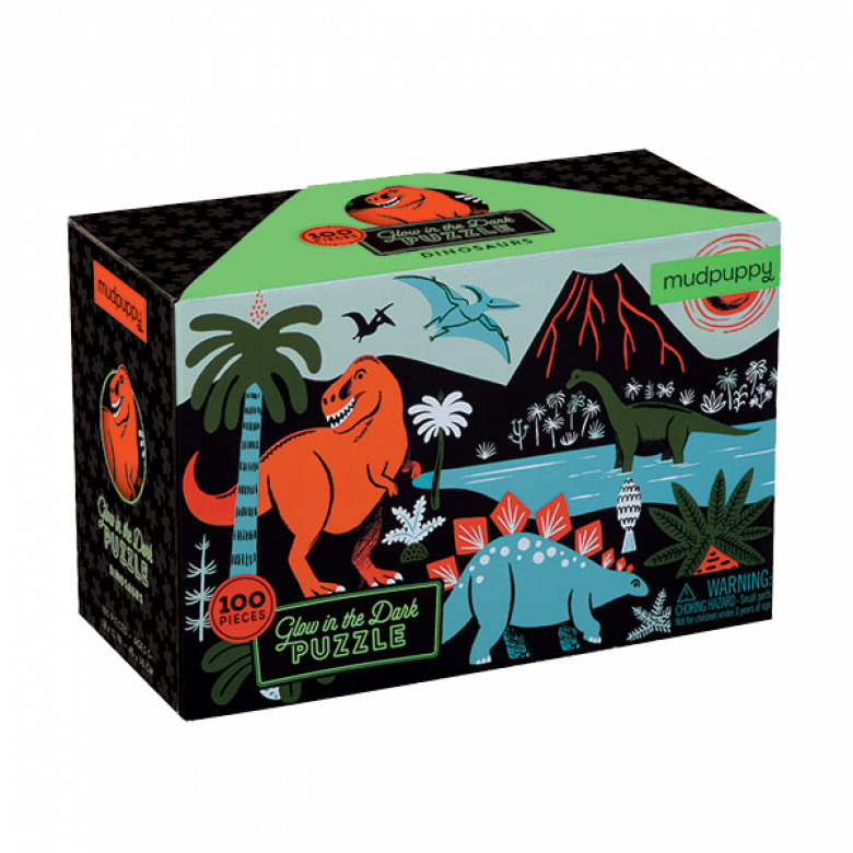 Dinosaurs - Glow In The Dark Jigsaw Puzzle 5+