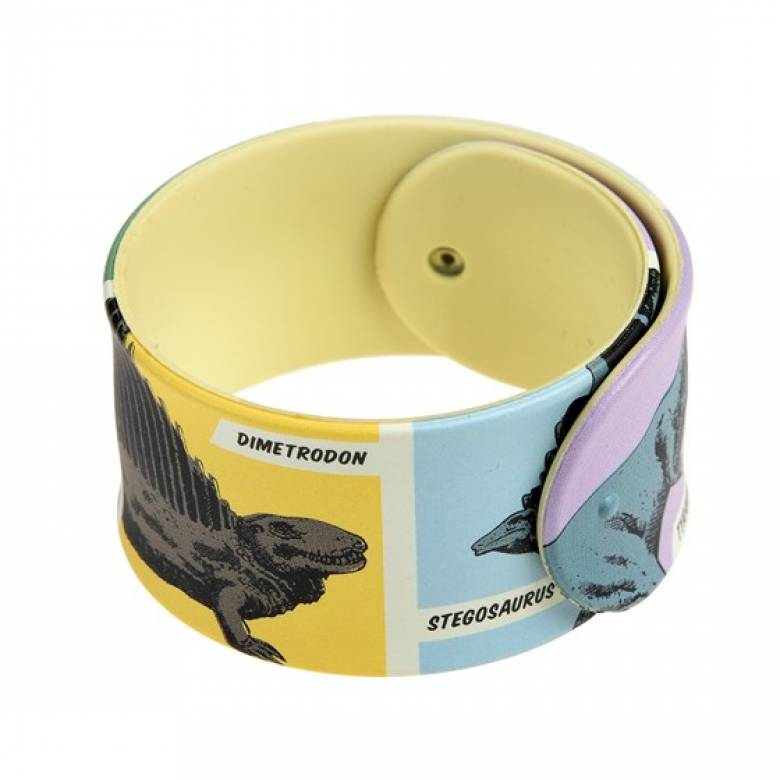 Childrens Snap Band Bracelet - Dinosaurs