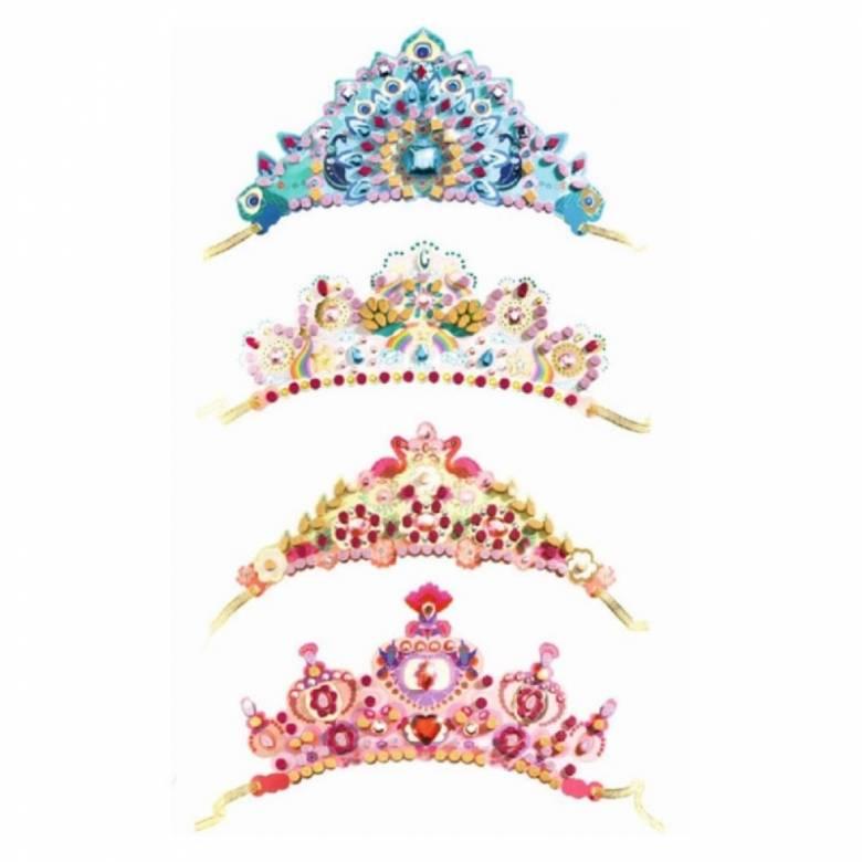 Do It Yourself 4 Mosaic Tiaras To Decorate By Djeco 5+