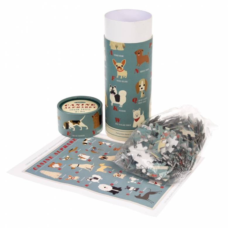 Dog Alphabet Puzzle In Tube Box