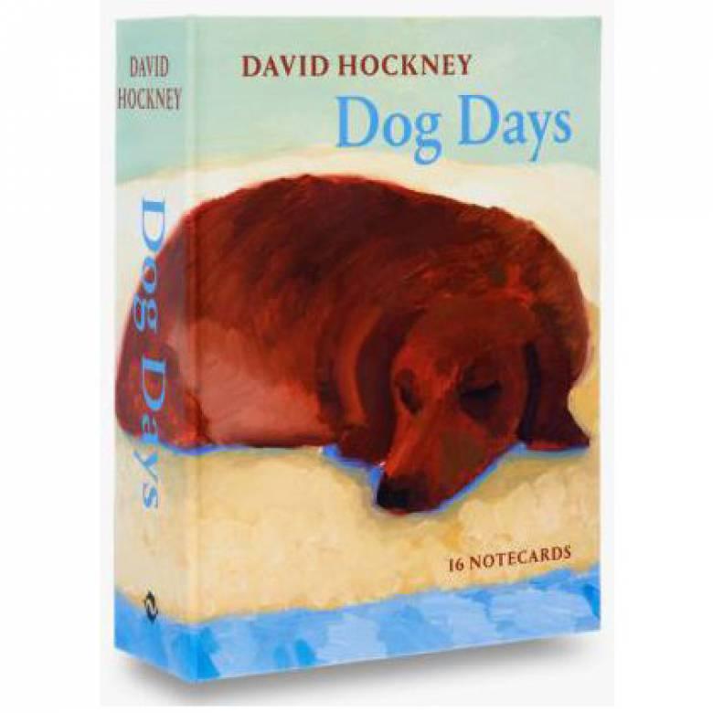 David Hockney Dog Days - Box Of Notecards