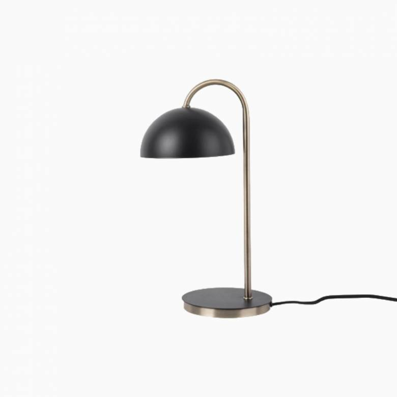 Dome Table Lamp In Matte Black & Gold