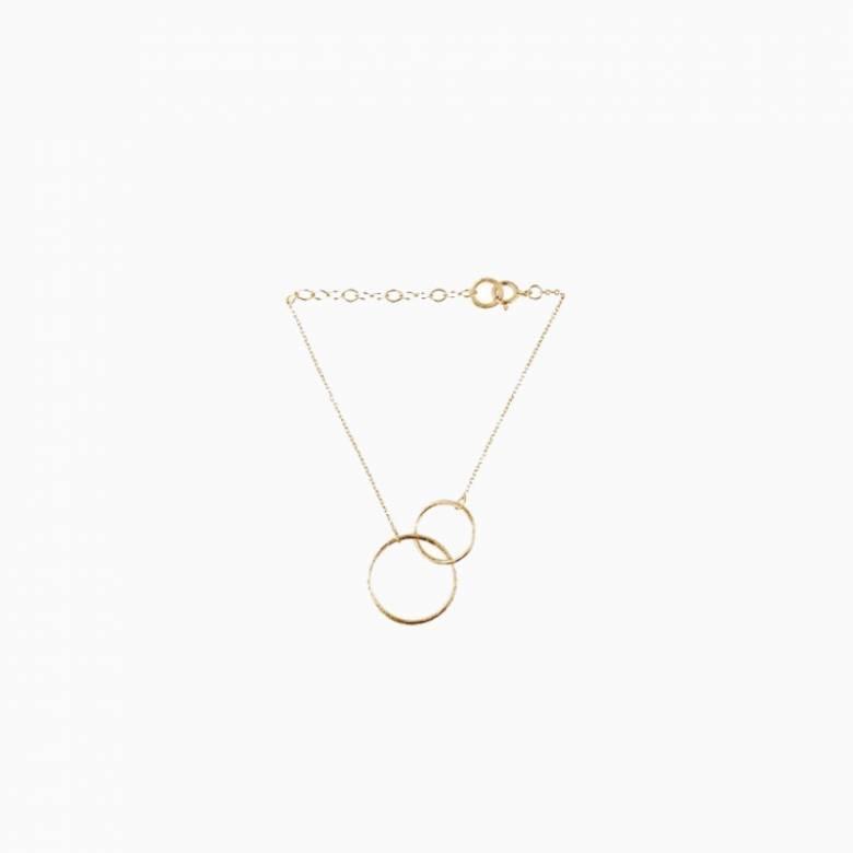 Double Plain Bracelet In Gold By Pernille Corydon