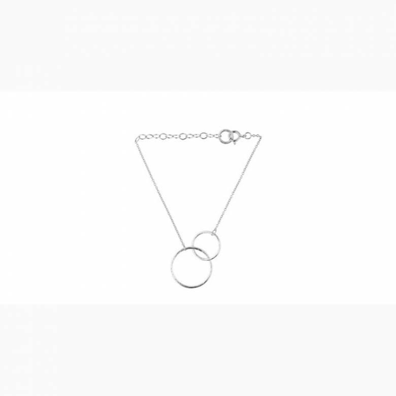 Double Plain Bracelet In Silver By Pernille Corydon