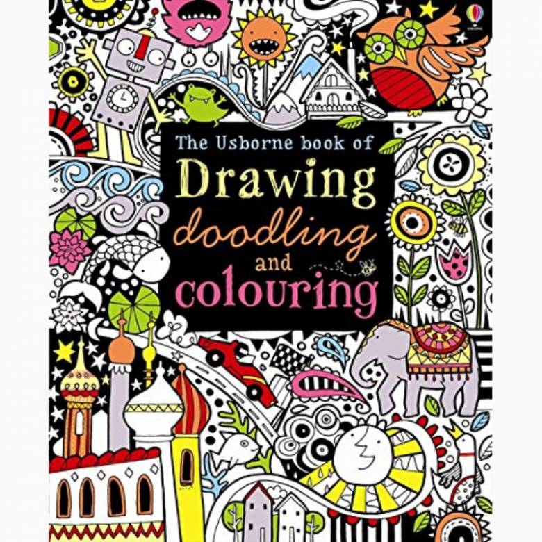 Drawing, Doodling and Colouring Book - Paperback Book