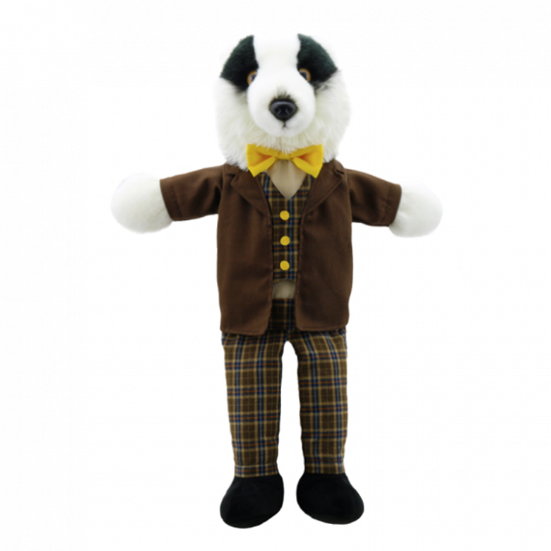 Badger Dressed Animal Puppet Soft Toy