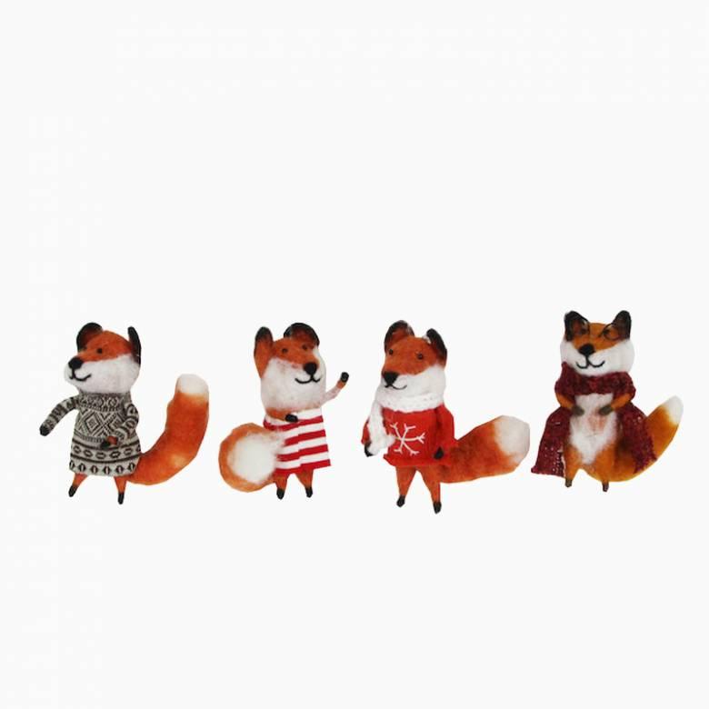 Dressed Fox Christmas Decoration