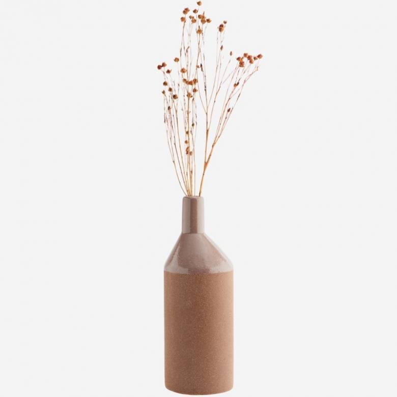 Dusty Rose Slim Glazed Vase 26cm