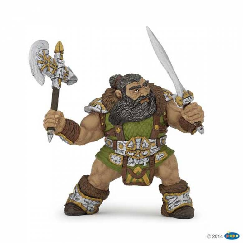 Dwarf Warrior With Axe Papo Fantasy Figure